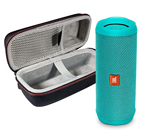 JBL Flip 4 Portable Bluetooth Wireless Speaker Bundle with Protective Travel Case - Teal (Best Speaker Wireless 2019)
