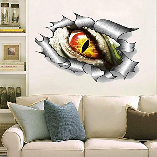 Halloween bats, scary, creepy, dragon eye, broken black pieces Decal Movie WALL STICKER Home Decor Art Sticker Room Decor ()