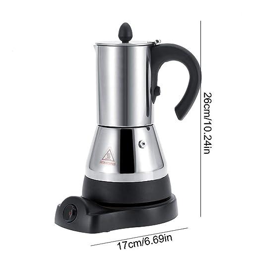 Cafetera eléctrica, 200/300ml Acero inoxidable eléctrico Espresso ...
