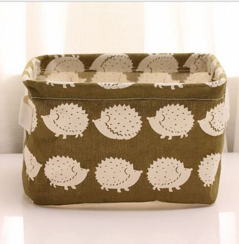 Linen Desk Storage Cosmetic Holder Stationery Organizer Case Bag Hedgehog - Swift Love Taylor Doll
