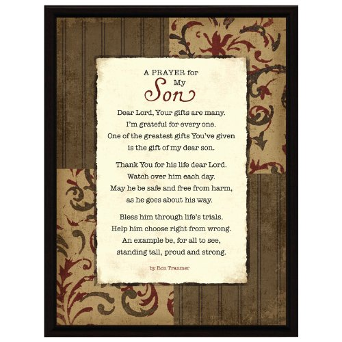Prayer..My Son Wood Frame Plaque with Easel