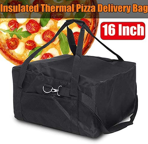 16 Zoll isoliert Pizza Delivery Bag, tragbare langlebige Pizza Delivery Bag, kommerzielle Grade Food Delivery Bag-rot