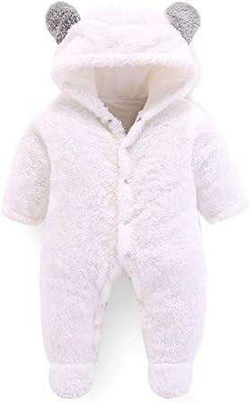 ZOOMY Saco de Dormir de Invierno para bebés en algodón de Terciopelo Coralino Sacos de Dormir para bebés Sacos de Dormir para bebés Oso de Dibujos Animados - Blanco-3M: Amazon.es: Hogar
