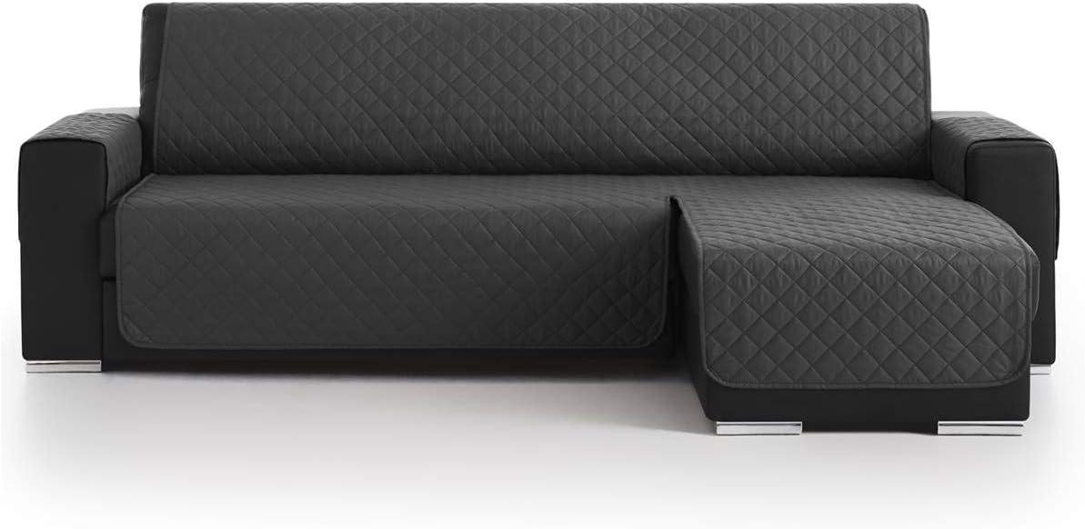 Lanovenanube Belmarti - Funda Chaise Longue Acolchado - Práctica - Derecha 200 cm - Color Gris C10
