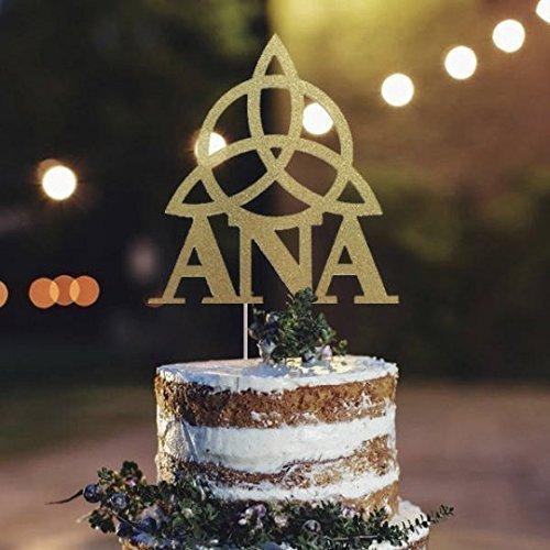 Amazon.com: Triquetra Personalized Name Cake Topper, Trinity Cake ...