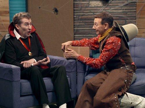 Pee-wee Herman Wears a Halloween Costume ()
