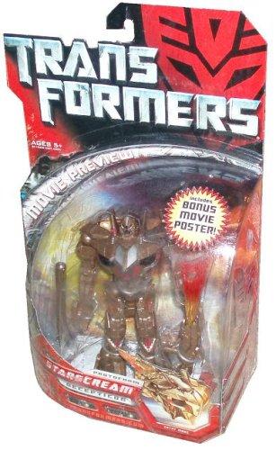 Transformers Movie Deluxe 6 Inch Tall Robot Action Figure - Decepticon Protoform STARSCREAM with Blaster and Projectile Plus Bonus Movie (Starscream Toy Figure)