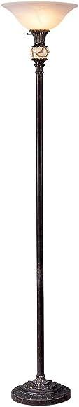 OK LIGHTING OK-4161FTR 71-Inch H Antique Black Floor Lamp