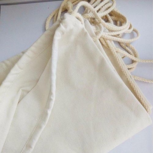 Malloom Las mujeres lechuza lona verano mochila moda paquete Duable bolsas (Buho) Blanco