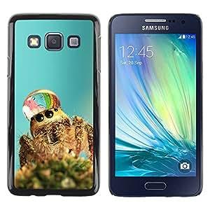 Caucho caso de Shell duro de la cubierta de accesorios de protección BY RAYDREAMMM - Samsung Galaxy A3 SM-A300 - Cute Spider Waterdrop