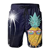 LiXiuL Adult-Men Melting Sunglasses Pineapple Summer Beach Shorts Quick Dry Swimming Beach Trunks Surfing Beach Trunk