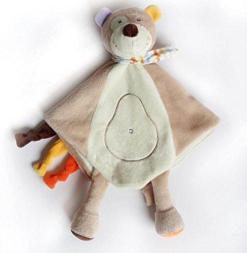 YOIL Lovely Toddler Baby Consolador de Juguete Toalla de Algodón Toalla de Mano Suave Toalla de bebé Juguetes Osito de Peluche Lindo Toy_Light Brown: ...