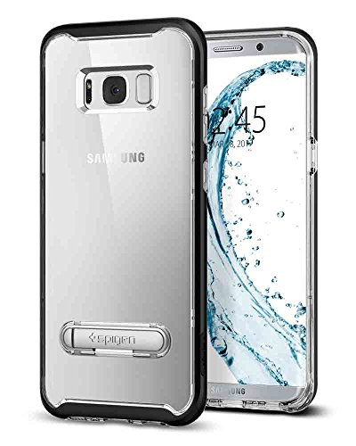 Spigen Crystal Hybrid Galaxy S8 Plus Case with Water-Mark Free PC and Magnetic Metal Kickstand for Galaxy S8 Plus (2017)