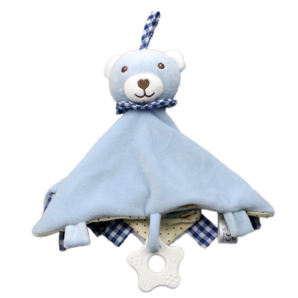 Xiton Manta de Felpa de Seguridad Infantil con Adorable Animal Comfort Manta para beb/é 1PC Elefante