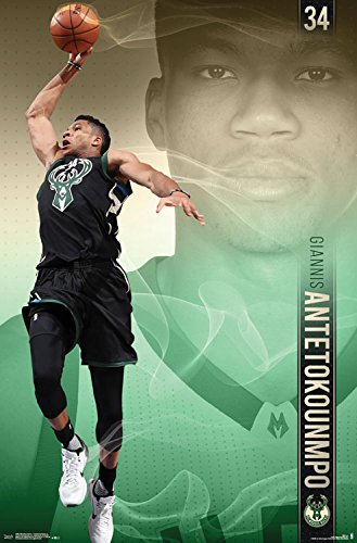 Trends International Milwaukee Bucks Giannis Antetokounmpo Wall Poster 22 375 X 34