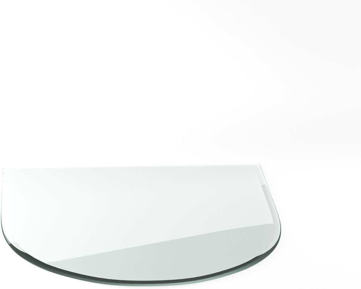 Funkenschutzplatte ESG 8mm Glasplatte Bodenplatte Kaminplatte Funkenschutz Ofenplatte Kaminglas ohne Dichtlippe G20 Quadrat 1200mm x 1200mm x 8mm