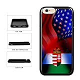 BleuReign(TM) Hungary And USA Mixed Flag TPU RUBBER Phone Case Back Cover For Apple iPhone 8 and iPhone 7