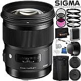 Sigma 50mm f/1.4 DG HSM Art Lens for Canon EF - 6PC Accessory Bundle