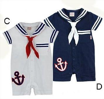 ad09accf1 Baby Boys Sailor Navy Romper Suit - Sailor Baby grow - Nautical Romper Suit  (6/12 months, Navy): Amazon.co.uk: Baby
