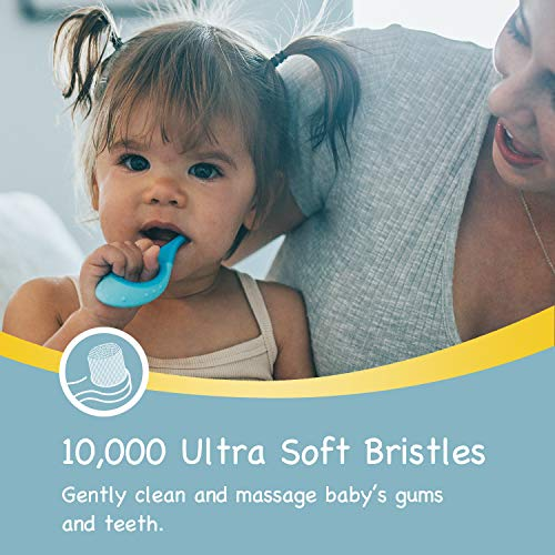 51uzMLl2HnL - Papablic Baby Toothbrush, Training Toothbrush For Age 0-2 Years | Infant Toothbrush With 10000 Ultra Soft Bristle, BPA Free, 4 Pack