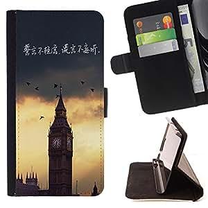 King Case - FOR Samsung Galaxy A3 - not speaking out of turn - Prima caja de la PU billetera de cuero con ranuras para tarjetas, efectivo Compartimiento desmontable y correa para la mu?eca