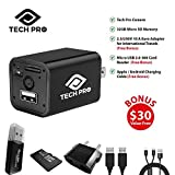 Tech Pro Hidden Spy Camera – 32 GB Included – 1080P HD Nanny Camera – Baby, Office -Can Charge Samsung and iPhone – USB Charger Camera – 2018 Premium Edition – 1 Year Warranty – 100% Satisfaction