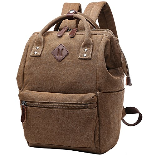 Classic Backpack Casual Everyday Student School Bookbag Basic Travel Rucksack Light Weight Canvas Backpack Unisex Outdoor Sport Shoulder Bag Fashion Hiking Daypack (Doctor Style Bag)