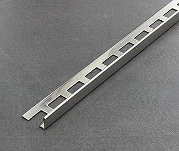 gl/änzend Fliesenschiene V2A Winkelprofil Fliesenprofil L/änge 2,50 m 11 mm H/öhe 5 St/ück Setpreis Edelstahl