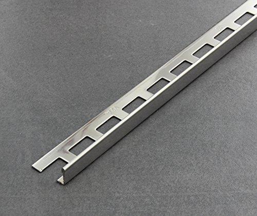 Winkelprofil gl/änzend Fliesenschiene V2A Fliesenprofil L/änge 2,50 m 12,5 mm H/öhe 10 St/ück Setpreis Edelstahl