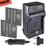 BM Premium Pack of 2 NB6L, NB-6L, NB-6LH Batteries and Charger Kit for Canon PowerShot S120, SX170 IS, SX260 HS, SX280 HS, SX500 IS, SX510 HS, SX520 HS, SX530 HS, SX540 HS, SX600 HS, SX610 HS, SX700 HS, SX710 HS, ELPH 500 HS, D10, D20, D30 Digital Camera
