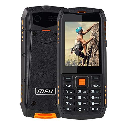 QUICATCH MFU A903S 3G Network IP68 Waterproof Tahan Getaran Tahan Air Ponsel 2.8 inch 2700 mAh Dual Camera Dual Mini SIM Feature Phone Big Volume Loud Clear Sound (Orange)