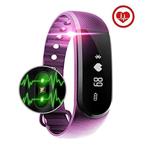 Fitness Tracker, Baymery Activity Tracker Watch Smart Heart Rate Monitor Bracelet Wristband, Exercise Workout Step Sports Health Sleep Fitness Band Bluetooth Waterproof for iPhone/Android (V3 Watch Phone)