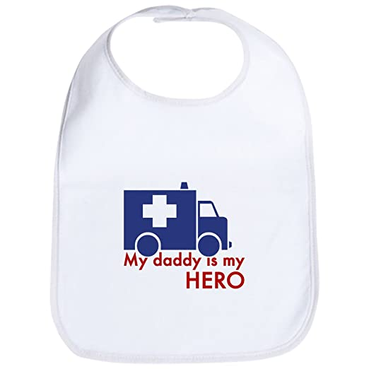 53ae4749 Amazon.com: CafePress - My Daddy Is My Hero (paramedic) Bib - Cute Cloth  Baby Bib, Toddler Bib: Clothing