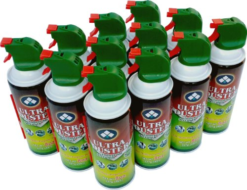 ULTRA Duster Brand Canned Air Duster Net 8 Oz in Case of 12 Pack by ULTRA Duster