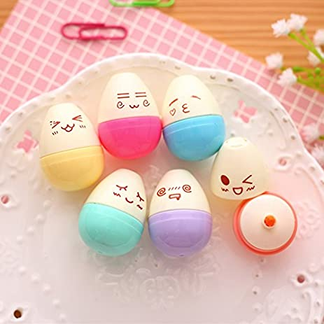 Vann92(TM) [6 Pieces/lot] Mini smile egg highlighter pen -