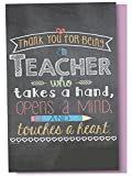 Tree-Free Greetings EcoNotes 12-Count Notecard Set With Envelopes, 4 x 6 Inches, Teacher Mind and Heart Themed Teacher Gift Art (56219)