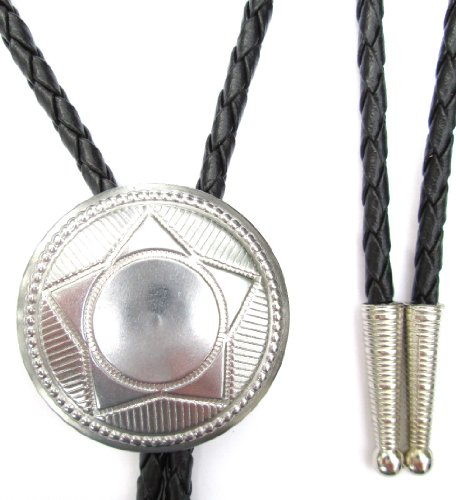 Western Bolo Tie with Classic Star 1 1/2