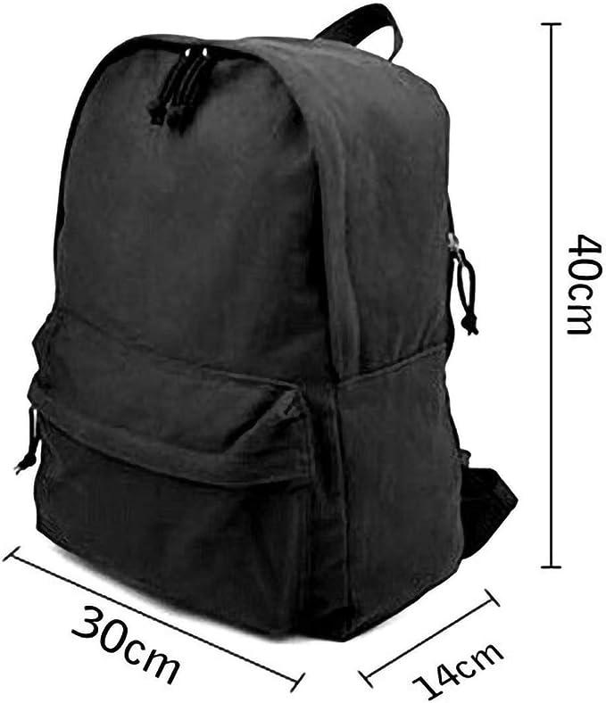 MIJUGGH Canvas Backpack Who Watches The Watchmen Rucksack Gym Hiking Laptop Shoulder Bag Daypack for Men Women