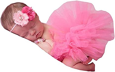 Sweet Newborn Baby-Girl Tutu Skirt /& Flower Headband Photo Prop Costume  EKQ