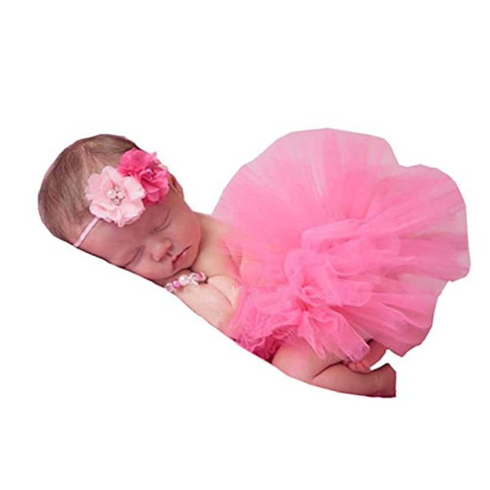 Newborn Baby Photography Props Girl Photo Shoot Outfits Tutu Skirt Headband Outfits