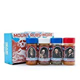 Man Crates Mount Rubsmore – Barbecue Seasonings, Rubs and Spices – Awesome BBQ Gift Set For Men – All-American Collection Of Fun, Flavorful, Patriot Spice Rubs – Meat Lovers Rejoice