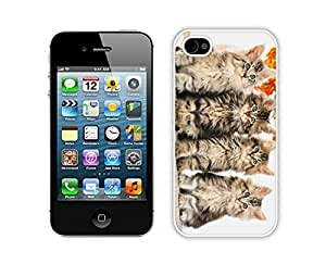 2014 Newest Christmas Cat White iPhone 4 4S Case 28