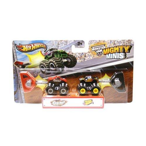 Truck Mini Wheels Hot (Hot Wheels Monster Jam Mighty Minis ~ Grinder & Team Hot Wheels)