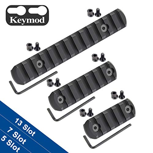 Fyland Keymod Picatinny Rail Sections, Aluminum Rail Mount Accessory Set Keymod System Allen Wrench, Keymod Replacement Screws Nuts