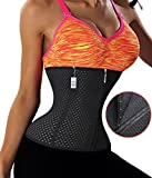 Gotoly Plus Size Girdle After Giving Birth Weight Loss Waist Trainer Long Torso (L, Black(Zipper With Hook))