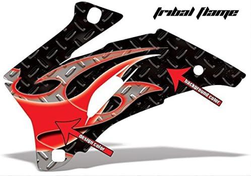 Amr Racing Yamaha Banshee 350 Atv Quad Graphic Kit Tribal Flammen Schwarz Blau Auto