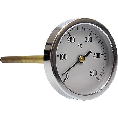 Termómetro para horno de leña, escala de 0 a 500ºC con vaina de 30 ...