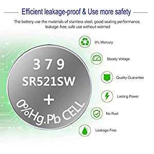 379 SR521SW V379 Watch Battery 1.5V Button Cell (20-Pack)