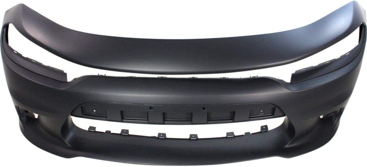 New Front Bumper Cover For 2015-2018 Dodge Charger,With Hood Scoop Model Primed CH1000A23 5PP39TZZAE