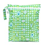 Bumkins Disney Baby Zippered Wet Bag, Monsters Inc. Green